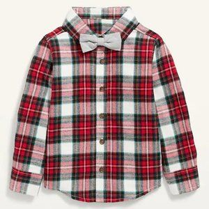 Old Navy Plaid Button Down Flannel Shirt